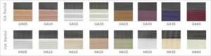 zebra perde renk kartelası